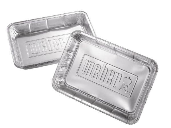 Алюминиевые поддоны Вебер большие 10 шт.