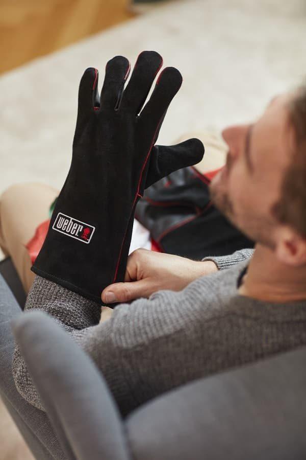 Перчатки кожаные Вебер для гриля