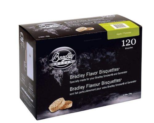 """Древесные брикеты для копчения Bradley Smoker """"Яблоня/Apple"""" (120 шт.)"""