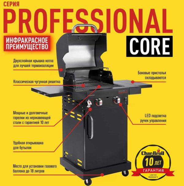 Газовый гриль Char-Broil Professional CORE 2B преимущества