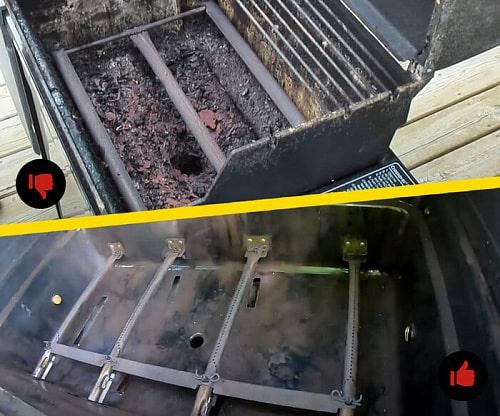 Газовый гриль Char-Broil Professional PRO очистка