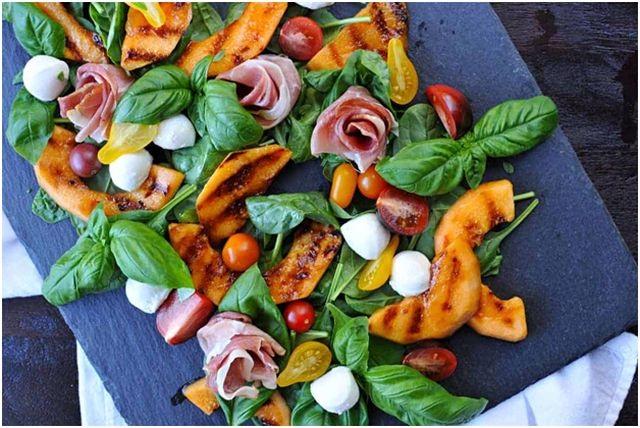 фрукты для гриля дыня